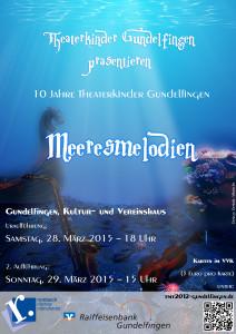 Flyer-Plakat Meeresmelodien