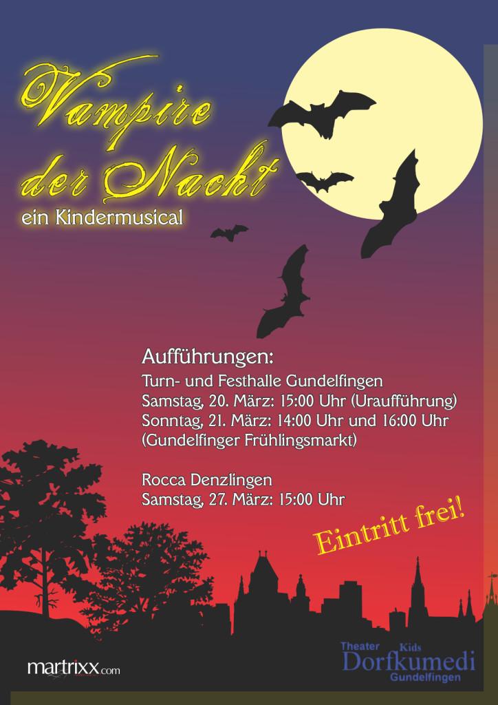 Flyer-Plakat Vampire der Nacht